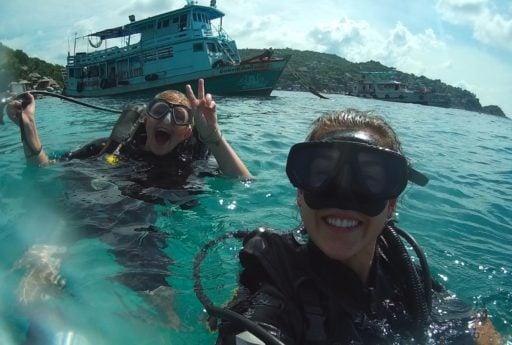 SCUBA divers on Koh Tao